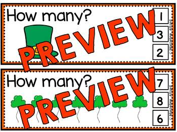 ST. PATRICK'S DAY PRESCHOOL (ST. PATRICK'S DAY COUNTING CENTER NUMBERS 1-10)