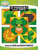 ST. PATRICK'S DAY Quilt Color By Code Clipart {Zip-A-Dee-Doo-Dah Designs}