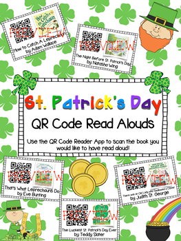 ST. PATRICK'S DAY Read Alouds  Listening Center ** QR Codes