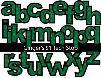 ST PATRICK'S DAY SHAMROCK * Bulletin Board Letters * Lower Case * Alphabet