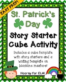 ST. PATRICK'S DAY STORY STARTER CUBE ACTIVITY WITH WRITING TEMPLATE