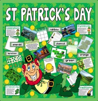 ST PATRICK'S DAY TEACHING RESOURCES KS1-2 CELEBRATION TRADITIONS IRELAND