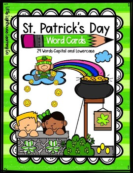 ST. PATRICK'S DAY Word Cards {Capital & Lowercase}