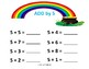ST. PATRICK'S RAINBOW ADDITION WORKSHEETS A (10 Worksheets)
