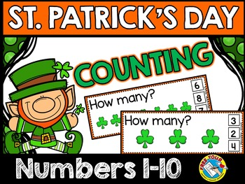ST. PATRICK'S DAY MATH CENTER:SHAMROCK COUNTING CLIP CARDS