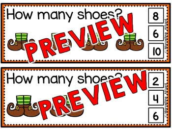 ST PATRICK'S DAY ACTIVITY KINDERGARTEN (SKIP COUNTING BY 2S) MARCH MATH CENTER
