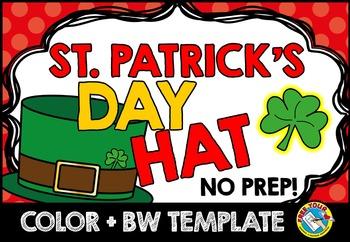 st patricks day craft hat templates march activity kindergarten