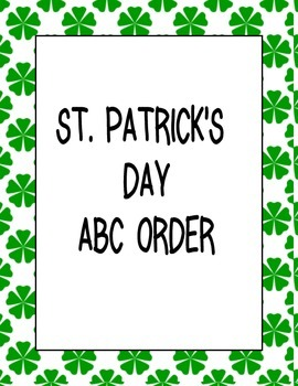 ST PATRICKS DAY ABC ORDER