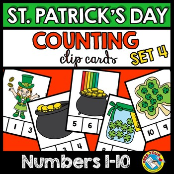 ST PATRICKS DAY ACTIVITIES PRE K NUMBERS 1-10 (MARCH MORNING WORK TUBS)