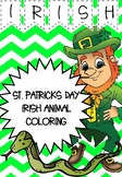 ST.PATRICKS DAY ANIMAL COLORING - AS GAEILGE