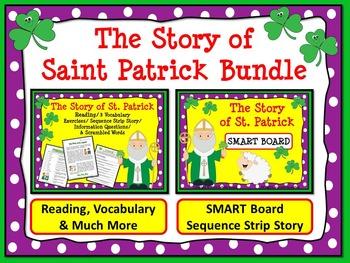 ST. PATRICK'S DAY BUNDLE: The Story of St. Patrick Reading & SMART Board