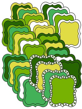 ST PATRICK'S DAY CLIP ART * BORDERS & FRAMES * COLOR AND BLACK AND WHITE