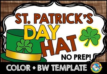 st patricks day craft hat templates march activities kindergarten