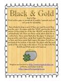 ST PATRICKS DAY CVC Card Game Black-and-Gold