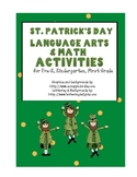 ST PATRICKS DAY Common Core Aligned Literature Math and Wr
