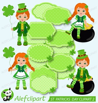 ST PATRICKS DAY Digital Clipart 2 , Patricks Day Clipart,f