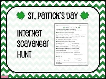 ST. PATRICK'S DAY Internet Scavenger Hunt