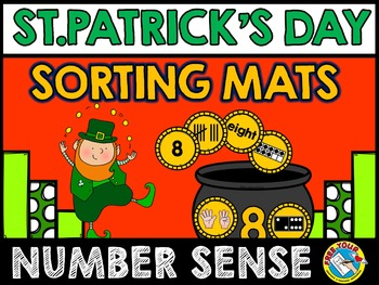 ST PATRICKS DAY MATH GAME (COINS NUMBER SENSE 1-10) MARCH ACTIVITY KINDERGARTEN