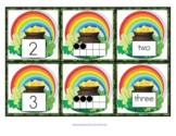 ST. PATRICK'S DAY Number Matching Cards 0 -10 - Numeral, 10-Frames, Number Word