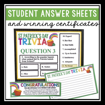 ST PATRICK'S DAY TRIVIA GAME