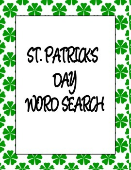 ST PATRICKS DAY WORD SEARCH