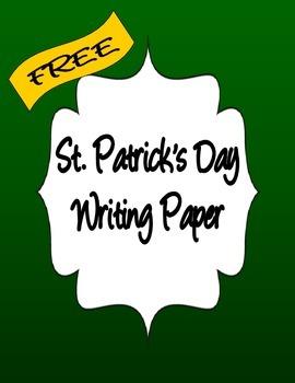 ST PATRICKS DAY WRITING PAPER