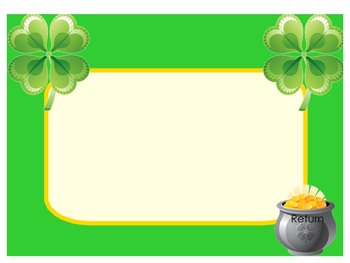 ST. PATTY'S DAY KOOSHBALL TEMPLATE