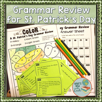 ST. Patrick's Day Grammar Review Activity