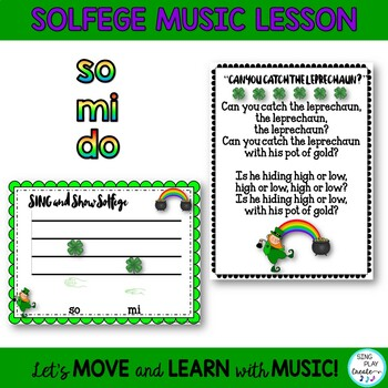 "St. Patrick's Day Game Song: ""Can You Catch the Leprechaun?"" with Solfege Lesson"