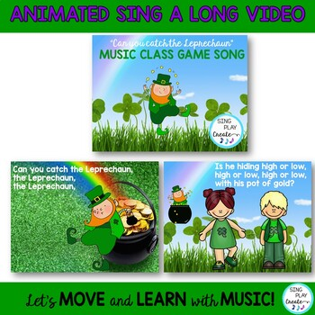 """St. Patrick's Day Music Lesson and Game Song: """"Can You Catch the Leprechaun?"""""""