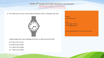 STAAR 2014 Math - 4th Grade with Answers and Visuals