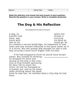 STAAR 3rd Grade Fables Test