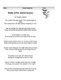 STAAR 3rd Grade Poetry Bats The Good Guys