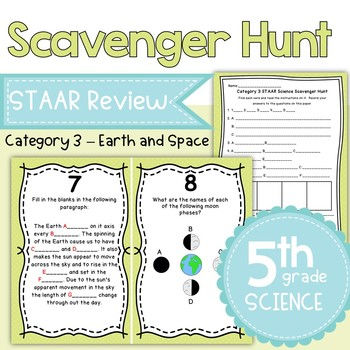 STAAR 5th Grade Science Category 3 Review Scavenger Hunt