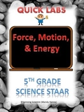 STAAR 5th grade science quick labs review FORCE,MOTION,ENERGY