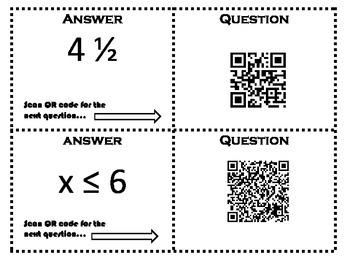 STAAR 6th Grade Math Review - QR Scavenger Hunt