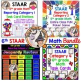 STAAR 6th grade Math Test Prep BUNDLE Task Cards Games Activities FUN!