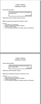 STAAR 7th grade Expository Essay Prompts and Template