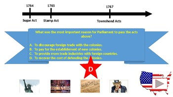 STAAR 8th Grade History Review Game - Category 1