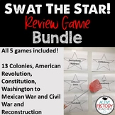 US History Review Game: Swat the STAR BUNDLE 8th STAAR Review