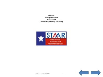 STAAR ONLINE formatted expository WRITING, revising & editing 4th grade