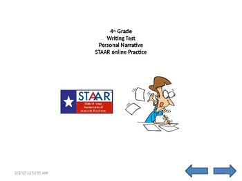 PLEASE RATE ME! :) 4th grade STAAR A formated PERSONAL NAR