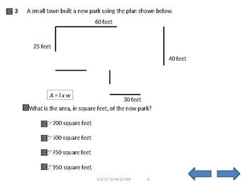 STAAR online format 5th grade MATH TTS 58 Questions