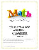 STAAR ALGEBRA 1 EOC CHECKPOINT - A.5A & A.5B