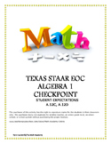 STAAR ALGEBRA 1 EOC CHECKPOINT – A.12C & A.12D