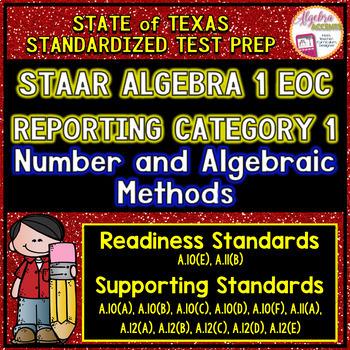 STAAR ALGEBRA 1 EOC Reporting Category 1 TEST PREP