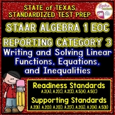 STAAR ALGEBRA 1 EOC Reporting Category 3 TEST PREP