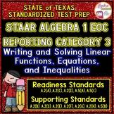 STAAR ALGEBRA 1 EOC Review Reporting Category 3 TEST PREP