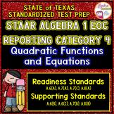 STAAR ALGEBRA 1 EOC Reporting Category 4 TEST PREP