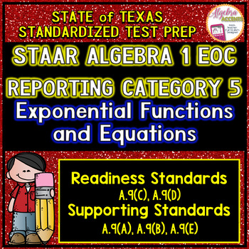 STAAR ALGEBRA 1 EOC Reporting Category 5 TEST PREP